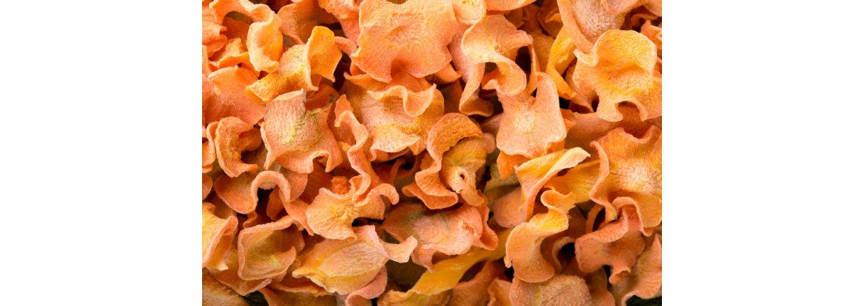 Tørkede gulrot chips - Dehydrator